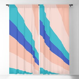 Coral Emerging Rays Blackout Curtain