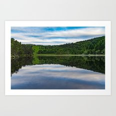 Quiet lake in Scotland Art Print