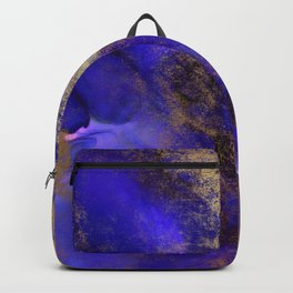 Modern Royal Blue and Gold Abstract Backpack