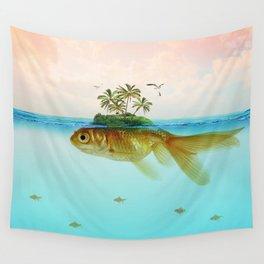 Goldfish Island II Wall Tapestry