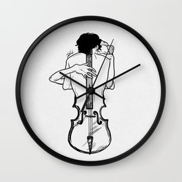 Violin hug Wall Clock