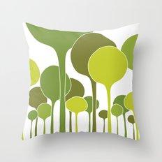 Green palette Throw Pillow