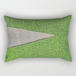 Green Urban Street Texture - Bicyle Path Rectangular Pillow