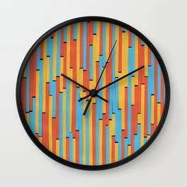 Paper Stripes - Color variation 1 Wall Clock