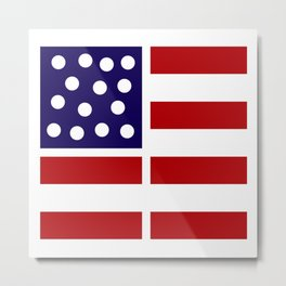American design! USA flag #society6 #decor #buyart #artprint Metal Print