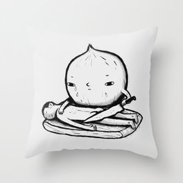 onion role reversal Throw Pillow