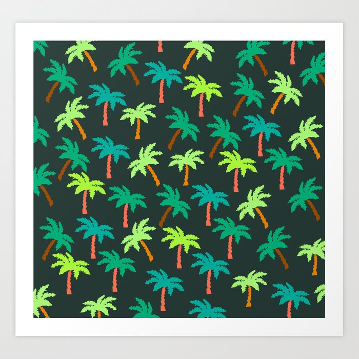 Palm tree pattern Art Print