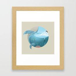 Whale Jump Framed Art Print