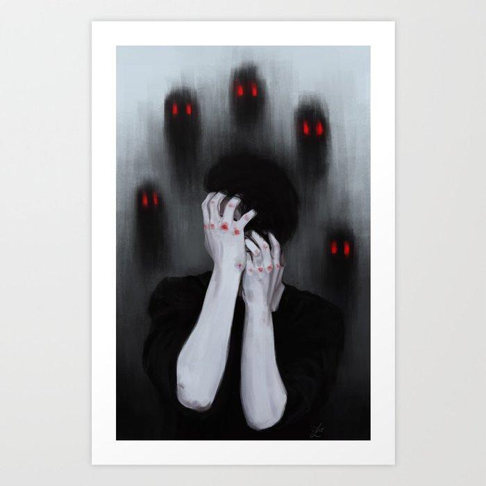 My demons. Art Print