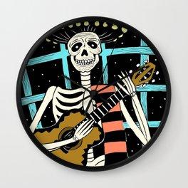 Skeleton w/ Guitar/Day of the Dead/Dia de los Muertos Wall Clock