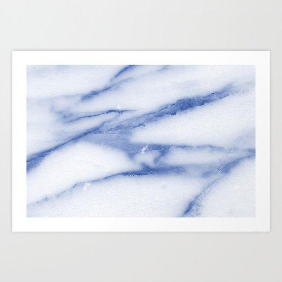 Blue Skies Marble Art Print