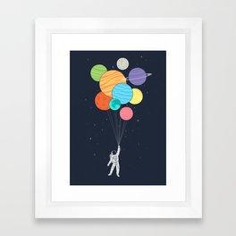 Planet Balloons Framed Art Print