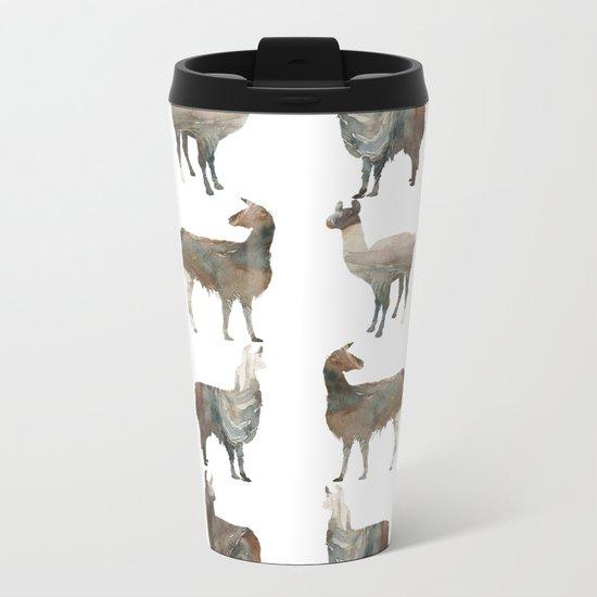Llamas Team Metal Travel Mug