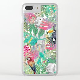 TROPICAL WEIM Clear iPhone Case