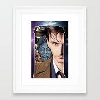 doctor who Framed Art Prints featuring Doctor Who by SB Art Productions