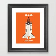 RIP, space shuttle Framed Art Print