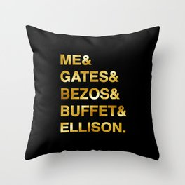 Forbes wealthiest list. For good mood people. Wear it on your next fancy party. Very funny t-shirts. Throw Pillow