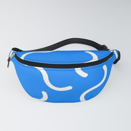 DAVID HOCKNEY STYLE 80s SQUIGGLE PATTERN Fanny Pack