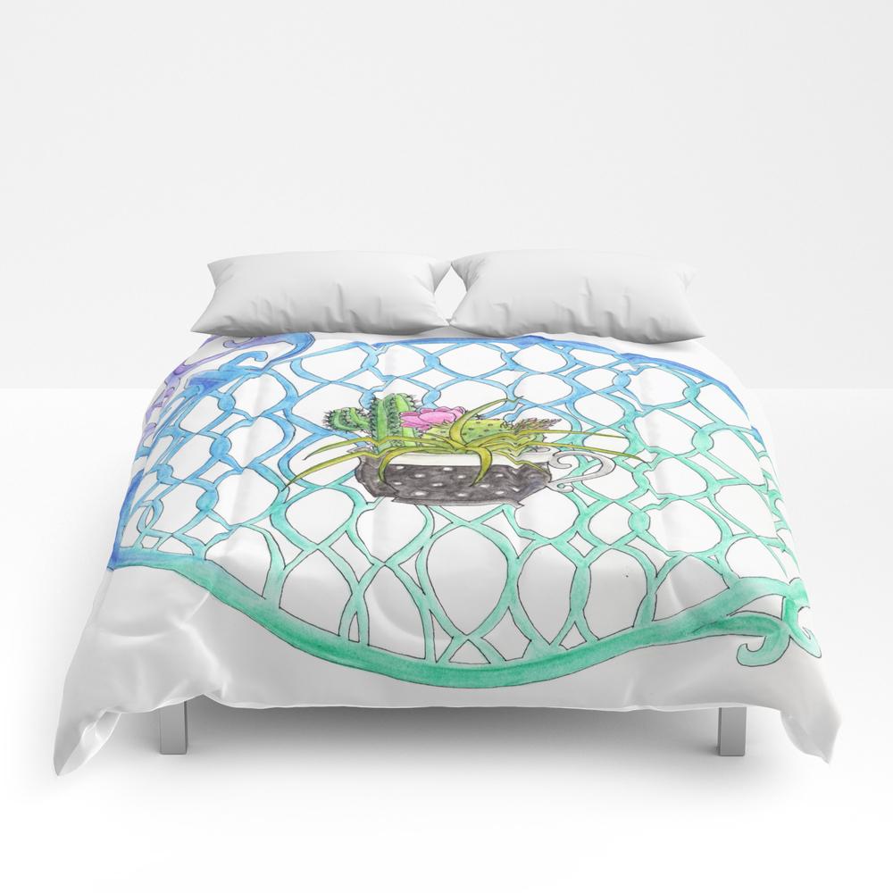 Cup Of Cactus Comforter by Vivianathethiefling CMF8739628