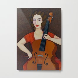 Guilhermina Suggia - Woman cellist of fire Metal Print