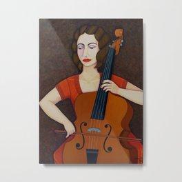 La Suggia - Woman cellist of fire Metal Print