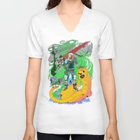 finn and jake V-neck T-shirts featuring Finn & Jake by Rob S
