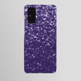 Dark ultra violet purple glitter sparkles Android Case