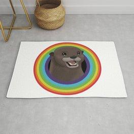 Rainbow Otter Rug