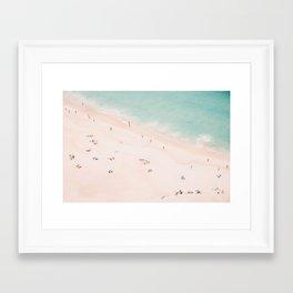 Beach Summer Bliss Framed Art Print