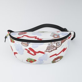 hand drawn pattern of winter decoration Fanny Pack