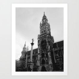 Munich Clock Tower Art Print