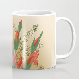Bouquet of pink and red gladioluses Coffee Mug