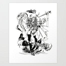 Peggy the Scorpio Art Print