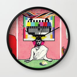 Man and Woman Reenact the Last Supper in an Age of Digital Ecstasy Wall Clock