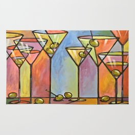 Martini Bar ... Abstract alcohol lounge bar kitchen art Rug