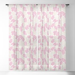 Frosted Animal Cookies on White Sheer Curtain