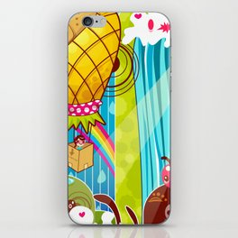 The Great Pineapple Race iPhone Skin