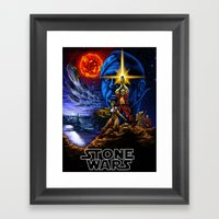 Stone Wars Framed Art Print