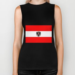Austrian Flag and Coat of Arms Biker Tank