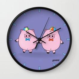 funny zodiac/gemini Wall Clock