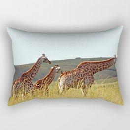 Giraffe  Family outing Rectangular Pillow