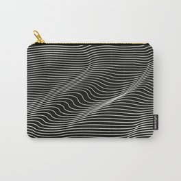 Minimal curves black Carry-All Pouch