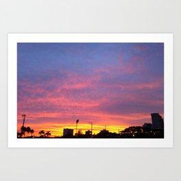 Sunset in Makati Art Print