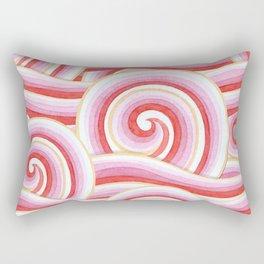Red Auspicious Waves Rectangular Pillow