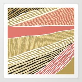 Modern irregular Stripes 05 Art Print