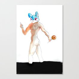 bunny man Canvas Print