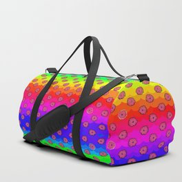 Rainbow and pink flowers Duffle Bag