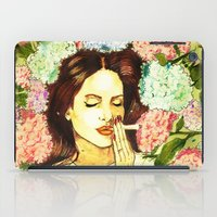 ultraviolence iPad Cases featuring Hydranges and Peyote by Robert Red ART