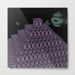 Pyramide Grotesque 39 Metal Print