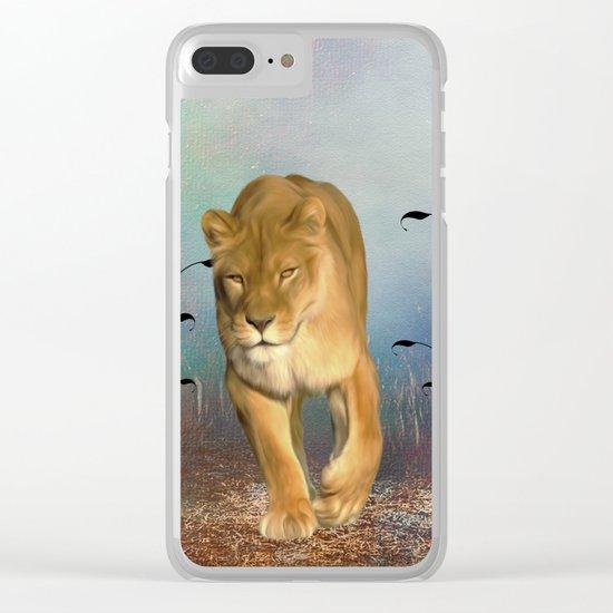 Wonderful wolf Clear iPhone Case